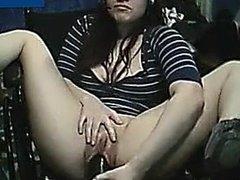 Camgirl huge dildo
