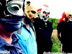Killergram Deililah Dash gets fucked by masked strangers in public