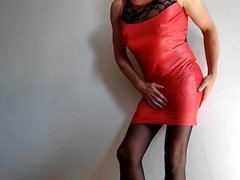 Shiny red dress 2.