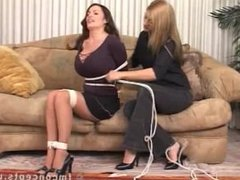Goldie Blair tied up