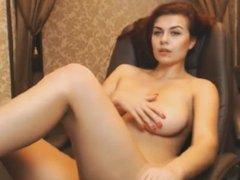 Girl with big boobs masturbating #2