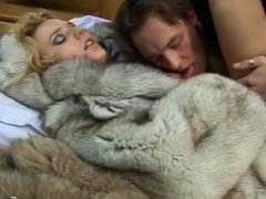 Hot sex in fur coats