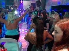 European amateur deepthroating dick at party
