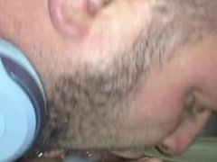 Uber driver cums in my mouth spitting cum on dick