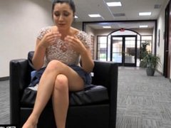 public masturbation in the office - busted