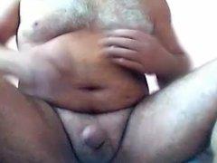 Hairy daddy bear huge cumshot