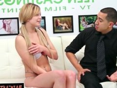Unsure Mia strips for casting audition
