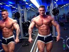 Dragos Milovich posing in the Gym
