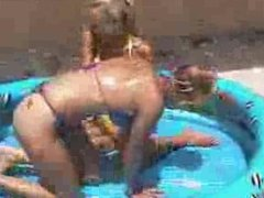 female v female oil wrestling