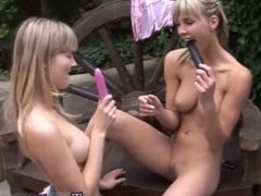 Short hair blonde lesbian and amateur teen blow job Two light-haired