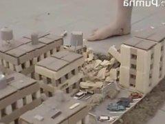 Giantess Pumha Crushes City