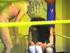 VS topless boxing Sandra vs Wendy