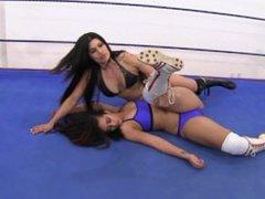 Bikini Latina Wrestling w/ Piledrivers