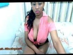 Big Black Ebony Teen Having Orgasm On webcam - Pussycamhd.com