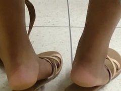 HS Friend's Candid Ebony Feet in Class 3