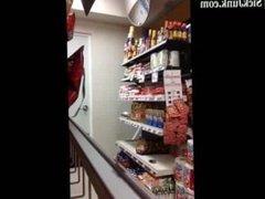 Girl Caught Masturbating in Store
