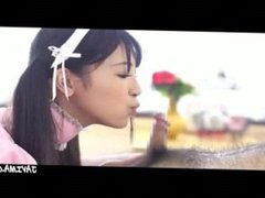 Japanese Girl Swallowing His Cock