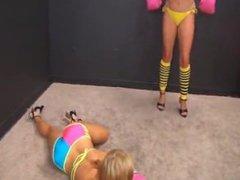 Rebecca vs Nikki topless boxing