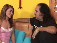Ron Jeremy interviewing youn teen