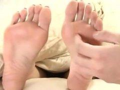 Sleeping asian feet