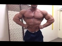 Massive Bodybuilder Flexing