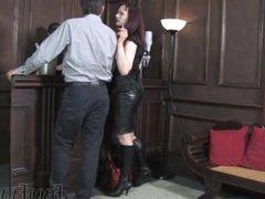 Public Humiliation of Ashtray Slave