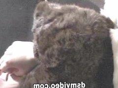 Rabbit fur kissing