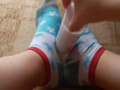 Ankle socks play POV Footjob