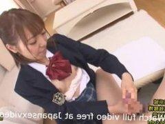 Japanese Schoolgirl in Uniform Blow Job