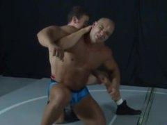 Bodybuilder Wrestling Muscle Hunk Lots of Flexing