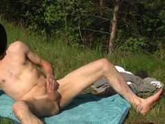 Private jerk off Outside