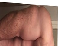 hairy young men with  big mushroom penis