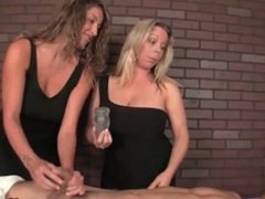 Two bossy ladies tag-team a poor man