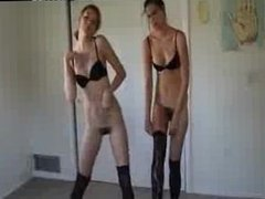 Real Amateur Skinny Hairy Teen Twins Strip