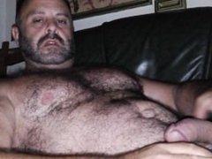 Man hairy Bear cum solo