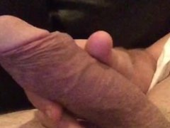 Throbbing cock, precum and anal play
