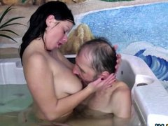 Hot young babe doing a Dirty Old Man