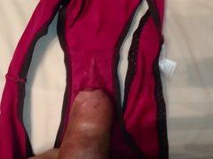Wanking over wifes panties