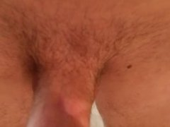 Watch me get hard and suck my cock