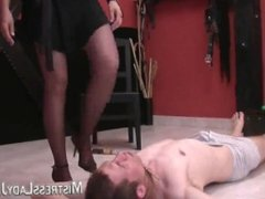 Mistress Jenny - Hard Faceslapping and Human Ashtray - 1