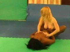 Naked girls interracial sex-wrestling