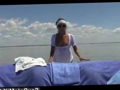 Milf with Super Body Gives Perfect Handjob on the Boat