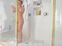 Skinny MILF Alana Luv Has Some Fun in the Shower