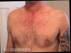 Homemade Video of Mature Amateur Richard Jerking Off