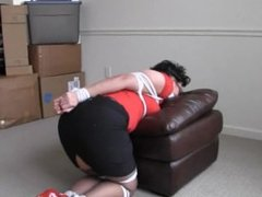 A girl could end up tied up and gagged
