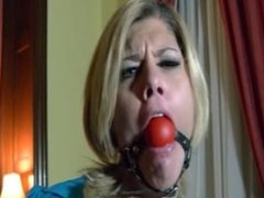 Busty ladies tied up, gagged & struggling