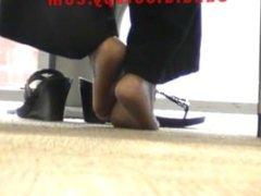 rubbing feet intense