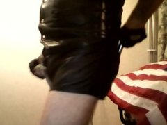 BLACK SEXY LEATHER SHORTS AND METAL WHIP ITS A HOT AND SEXY VIDEO.