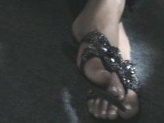 Friend's feet under the desk 7