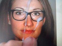Glasses MILF facial tribute